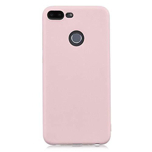 cuzz Funda para Huawei Honor 9 Lite+{Protector de Pantalla de Vidrio Templado} Carcasa Silicona Suave Gel Rasguño y Resistente Teléfono Móvil Cover-Rosa Claro