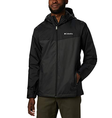 Columbia Men's Glennaker Sherpa Lined Jacket, Black, Shark, 4X