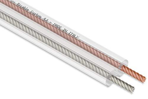 Ricable Custom 4.0/10-10 Metri 2 x 4 mmq Cavo Audio OFC di Potenza x Casse