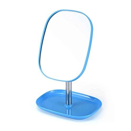 Miroirs Vanity Portable Portable Grand Simple Princesse Chambre Bureau Dortoir Vanité 360 ° Angle Libre Voir HD Anti-Slip Base (Couleur : Sky Blue)