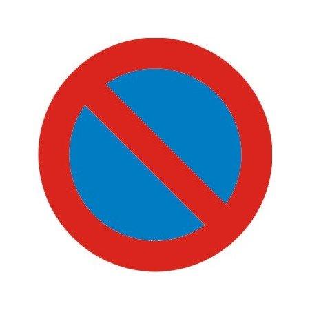 Señal metálica 50 cms (Chapa plana económica) R-308 Prohibido aparcar