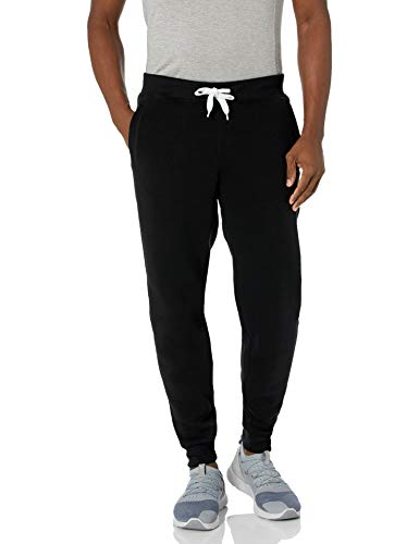 Southpole Men's Active Basic Jogger Fleece Pants, Black, 2XL