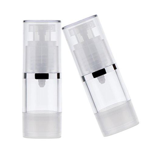 Colcolo Juego de 2 Botellas de Viaje Multifuncionales Botella de Viaje Contenedor de Líquido con - 15ml