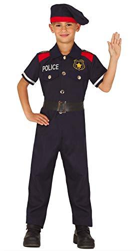 FIESTAS GUIRCA Disfraz policia Infantil Talla 10-12 años