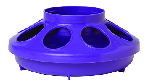 Little Giant Plastic Feeder Base (1 Quart) Heavy Duty Plastic Water Tray Base for Container (Purple) (Item No. 806PURPLE)