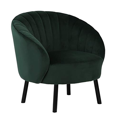 HIC High in the clouds Modern Wohnzimmer Sessel Sitzhöhe 40cm mit U-förmige Tuftingbespannung Lounge TV Sessel für Wohnzimmer und Schlafzimmer Sofa Stuhl bis Grün 150 kg