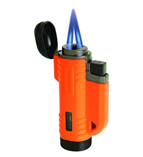 TURBOFLAME Vvlam Neon Oranje - Stormproof & Winddichte Camping Aansteker - Geschikt voor Zeilen, Overleven en Sigarenaansteker