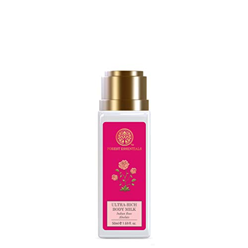 Forest Essentials Ultra Rich Body Lotion, Indian Rose Absolute, 50ml