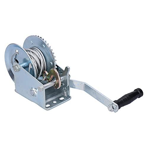 Ong Cabrestante de Engranaje de Cable, cabrestante de manivela Resistente, cabrestante de Remolque, cabrestante Ligero, Resistente, 1000LBS, para vehículo para automóvil