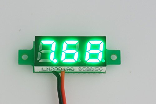 """SMAKN® GREEN LED 0.28"""" Digital Voltmeter Panel DC 3.00~30V Car Motorcycle Battery Monitor two wires"""