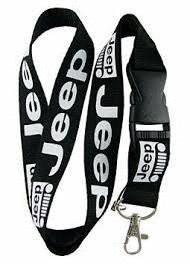 1pcs Jeep Lanyard Keychain Badge Holder