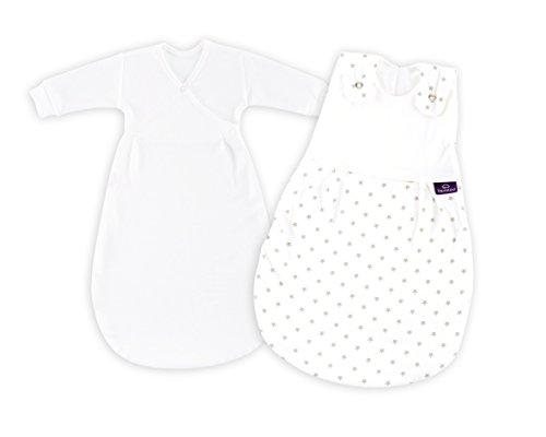 Träumeland S0101451 Babyschlafsack LIEBMICH 2 teilig Set Sternchen grau, Größe 44, mehrfarbig