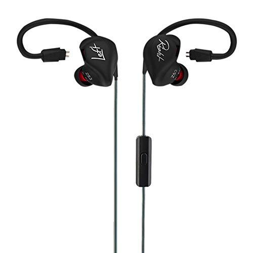 Universal Kz-ZS3 El más cómodo diseño ergonómico HIFI auriculares dos estilos negro cancelación de ruido auricular