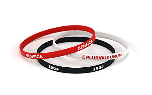Sport Lisboa e Benfica Pulseira Classic Tricolor Standard para Homem | Pulseira de Silicone | Apoie o Benfica com um Produto Oficial | SLB