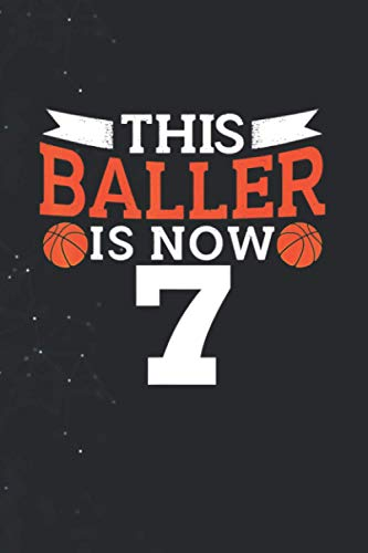 This Baller Is Now 7 Funny Basketball Birthday Outfit PaperBack Notebook