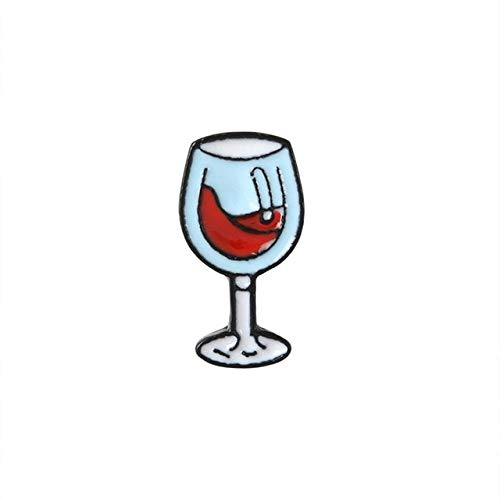 Broches Mini Cerveza Cóctel Copa De Vino Botella De Vino Tinto Copa Esmalte Pin Colección De Insignias Para Mujeres Hombres Fiesta Time-Style2