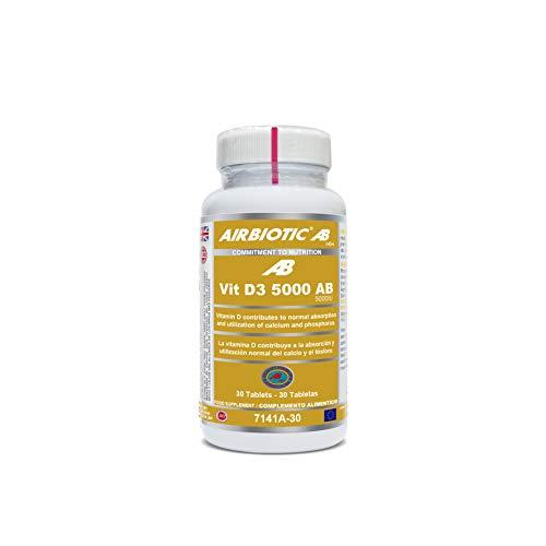 Airbiotic AB - Vitamin D3 5.000 UI - 30 tabletas