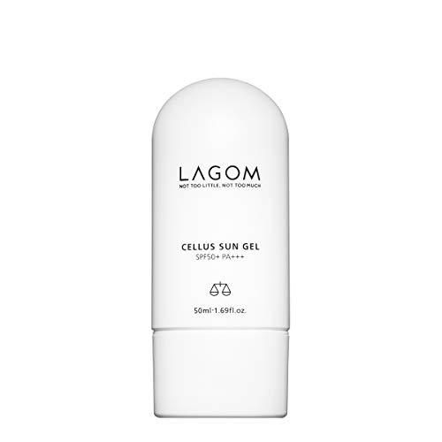Gel Solaire Lagom Cellus - 50 ml - Contient DermafluxTM, crème solaire: Octinoxate 7% Octocrylene 5%, 4% Octisalate