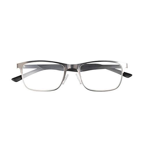 YGF120 BONOX ダルトン おしゃれ 老眼鏡 シニアグラ Reading Glasses (YGF120GUB GUN_BLACK, 1.0)