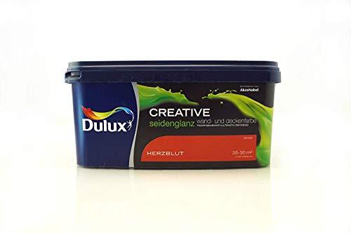 Dulux Creative Wand- und Deckenfarbe Herzblut rot seidenglanz 2,5 l