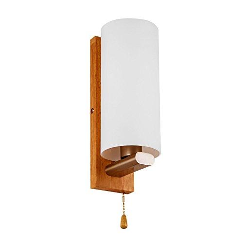 WEXLX Appliques en bois simple lampe murale de couloir Chambre Salon diamètre12 cm hauteur28cm