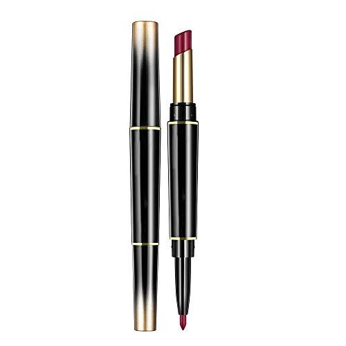 Lecimo Lèvres Double Tête Pour Les Femmes Rouge à Lèvres Mat Mat Liner à Rotation Rouge à Lèvres Antiadhésif,8#