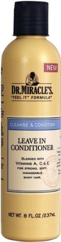 Dr. Miracles Cleanse & Condition Leave-In Conditioner 8oz (2 Pack) by Dr. Miracle