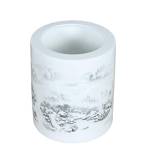 TNSYGSB Titular de la pluma de cerámica grande escritorio de almacenamiento adornos retro moda cepillo titular del profesor día regalo cepillo conjunto