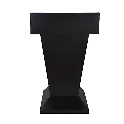 YzDnF Edelstahl sprechen Sprecher mit Schublade und großem Speicherbereich Podium Hochleistungs-Handelpodest Stand auftragen (Color : Black, Size : 70x36x112cm)