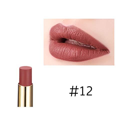 Vaycally Neue Make-up, wasserdicht langlebig Lippenstift matt Lipgloss Make-up Kosmetik neu, Musik Rose feuchtigkeitsspendende wasserdicht Nicht entfärben glasur 24 Farbe 19#