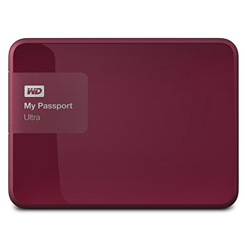 Disco duro externo WD 1TB Berry My Passport ultra portátil - USB 3.0 - WDBGPU0010BBY-NESN Size: 1 TB Color: Berry Style: Drive Only, modelo: WDBGPU0010BBY-NESN, Gadget & Electronics Store