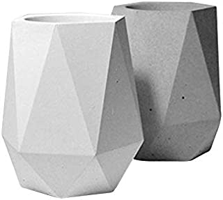 Samber Flowerpot Mould Storage Box Succulent/Plant Flower Pot Creative Mini/Coffin/Shaped Silicone/Mould Vase Mold DIY Handmade Craft Home Decoration Geometry Flower/Pot Molds with/Cover///B