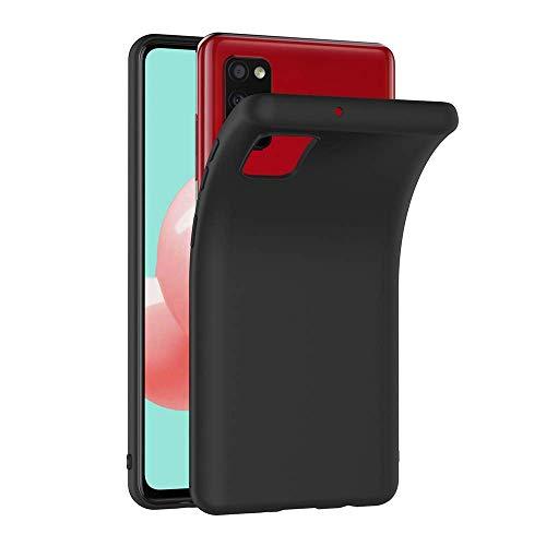COPHONE Funda Negro Samsung Galaxy A41 , Negro Silicona Fundas para Samsung Galaxy A41 Carcasa Negro Funda Case Galaxy A41 Flexible Ultra Delgado