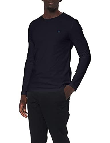 Marc O\'Polo Herren B21222052022 Langarmshirt, Blau (Deep Ocean 895), Large (Herstellergröße: L)
