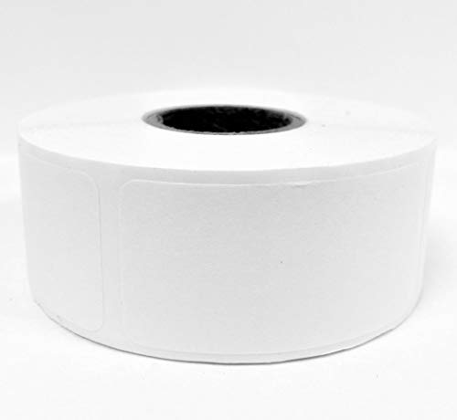 Dissolvable Food Storage Labels for Home and Restaurant - Blank White 1x2 inch 500 Labels Per Roll -Dissolves in Water in 30 Seconds No Adhesive Residue - Perfect for Glass, Metal, Plastic Containers