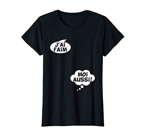 Femme Cadeau Femme Enceinte Humour Grossesse Futur Bébé Drôle T-Shirt