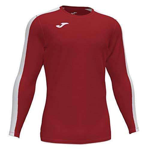 Joma Academy Camiseta Juego Manga Larga, Hombre, Rojo-Blanco, L