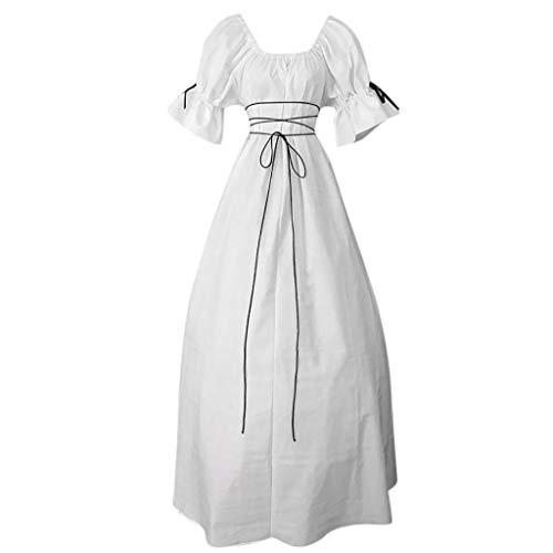 Vestidos para Mujer,Medieval Retro Vestidos Coctel Corto Vintage Vestidos Fiesta Arco Elegante Mujer vpass Princesa Camisón Vestido de Noche Vestidos Trajes