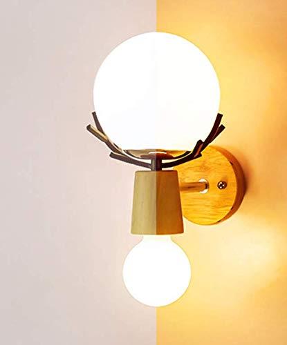 Wandlamp Creatieve LED wandlamp wandlampen E27 peer hout retro wandlampen Hotel Home woonkamer slaapkamer nacht binnenlamp