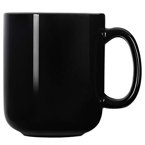 20 OZ Large Coffee Mugs Harebe Smooth Ceramic Tea Cup for Office and Home Big Capacity with Handle Black