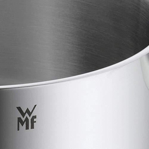 WMF Provence Plus - Batería de Cocina, Acero Inoxidable Cromargan, Tapas de Cristal, Apta para Todo Tipo de Cocinas, 4 Piezas