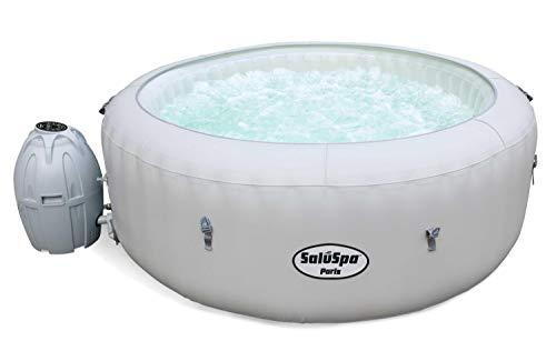 SaluSpa Paris AirJet Inflatable Hot Tub w/ LED Light Show
