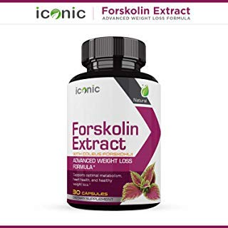 Iconic-Natural Forskolin Weight Loss Supplement- With Coleus Forskohlii- Safe Weight Loss Supplement for Women & Men-Carb Blocker and Appetite Suppressant- 30 Capsules