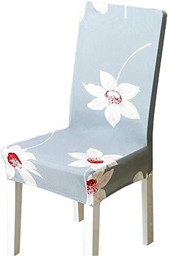 FLYAND 6 unids de Comedor for sillas de Comedor Protectores Silla Cubiertas de Silla extraíble instalación elástica de la instalación de la Silla Protectora for sillas Altas (Talla : E)
