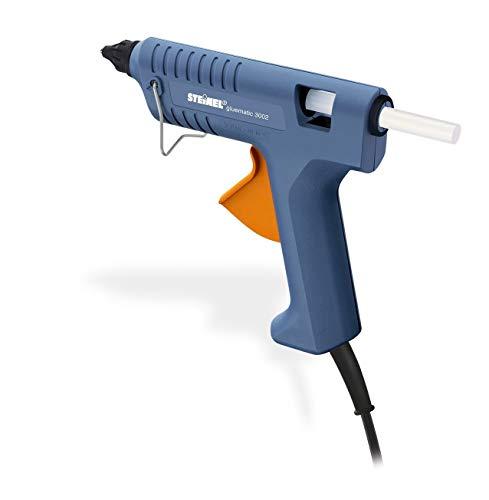 Steinel Gluematic 3002 - Pistola termoencoladora, Tiempo de calentamiento: 7 min, Temperatura de fusión: 206 °C, Rendimiento: 16 g/min, Incluye barritas de pegamento Ø 11 mm, 333317