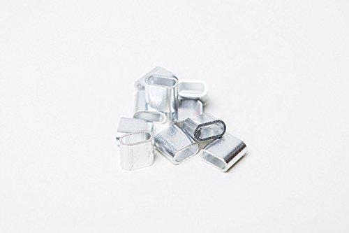 50x Aluminiumplombe Aluplombe silber Festival Festivalbändchen Ersatz Alu Öse Plombe - 50 Stück