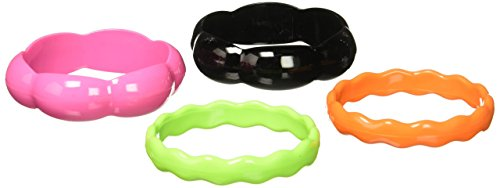 Forum Novelties Women's 80's Neon Plastic Bracelets Set