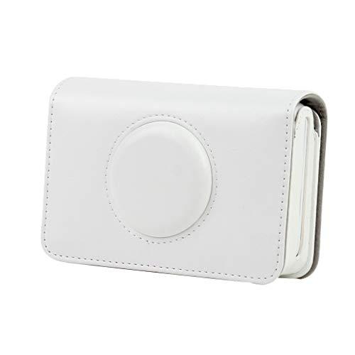 prasku Estuche de Cuero para Cámara Instantánea, Funda para Bolsa, para Polaroid Snap Touch, Blanco