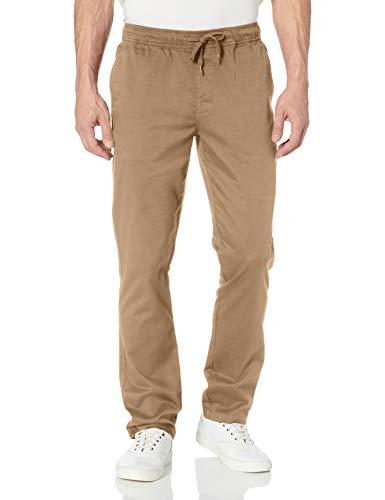 RVCA Men's Weekend Elastic Chino Pant, Wood, M