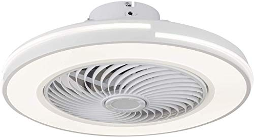 LED Semi Flush Mount Fandelier, ventilador de techo de 20 pulgadas con control de luz y control remoto, fichada ligera, cuchillas acrílicas, 3 colores 3 velocidades, motor silencioso, para la habitaci